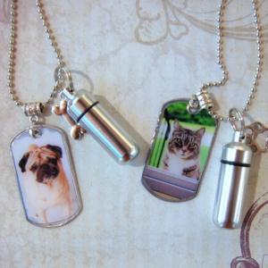 Pet Memorial Dog Tag Necklace 12